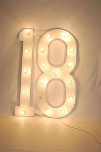 Large Number 18 (with bulbs) Theme Prop Hire