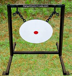 gong steel target rifle target military police competition sport