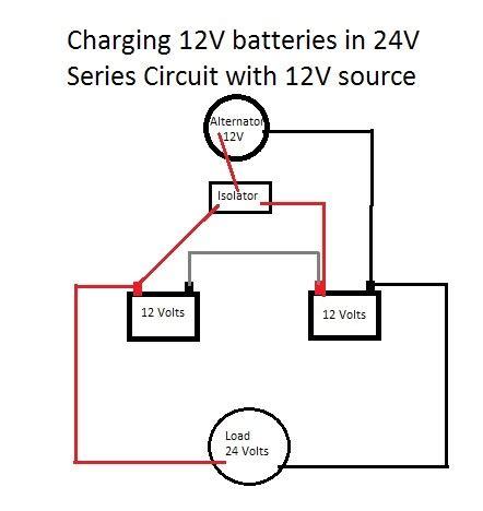 Charging Battery With Alternator Isolator