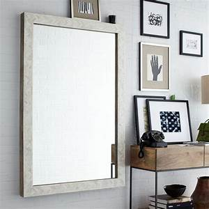 parsons large wall mirror bone inlay west elm uk With miroir mural grande taille