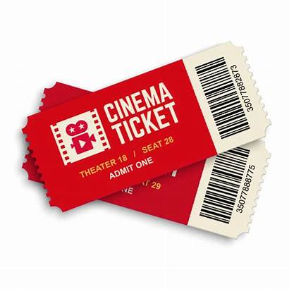 Ticket Tickets Cinema Vector Theater Clip Illustrations
