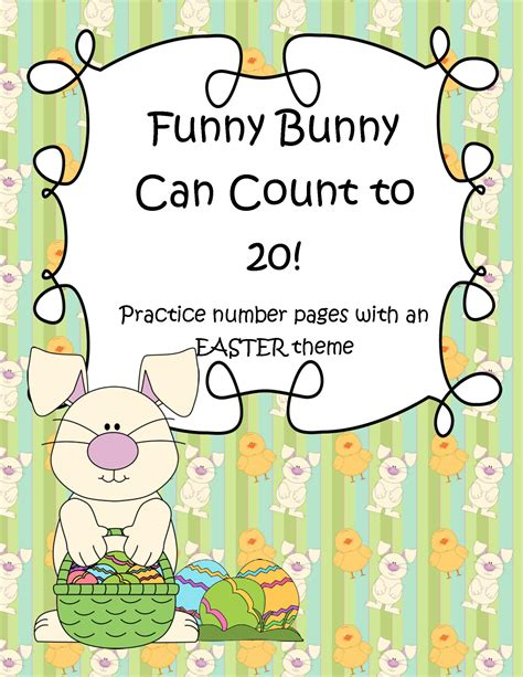 what s the easter bunny s phone number easter bunny theme number practice printables 1 20