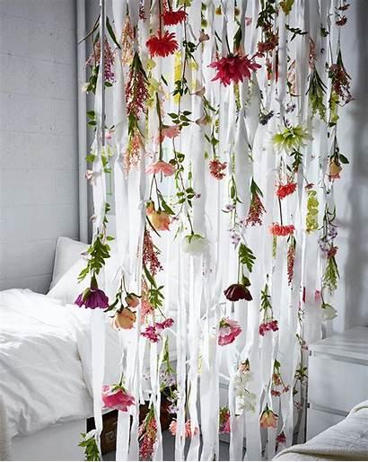 Decor Diy Flowers Ikea Bedroom Dorm Curtain
