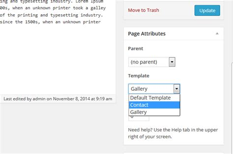 create a new page template how to create page template in flythemes