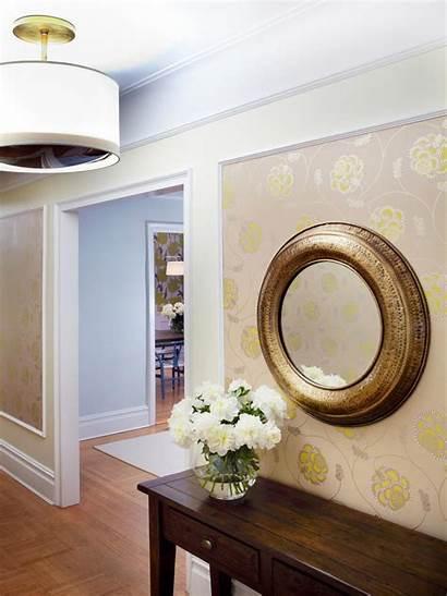 Hallway Neutral Floral Transitional Hgtv