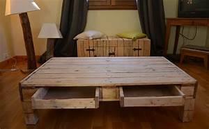 Faire Une Table Basse En Palette : table basse palette tuto le bois chez vous ~ Dode.kayakingforconservation.com Idées de Décoration