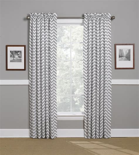 gray chevron curtains window treatments american made