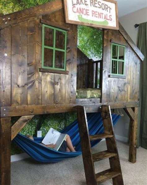 Bunk Bed Hammock by 20 Awesome Boy Beds That Your Will Shelterness