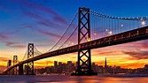 San Francisco Bay Bridge Sunset Wallpapers - Wallpaper Cave