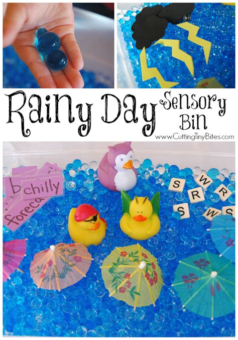 weather theme weekly home preschool what can we do with 932 | RainyDaySensoryBin3