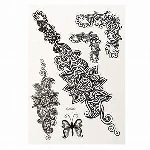Henna Tattoo Schablonen : lace transfer temporary white black henna lace flash tattoos inspired sticker ebay ~ Frokenaadalensverden.com Haus und Dekorationen