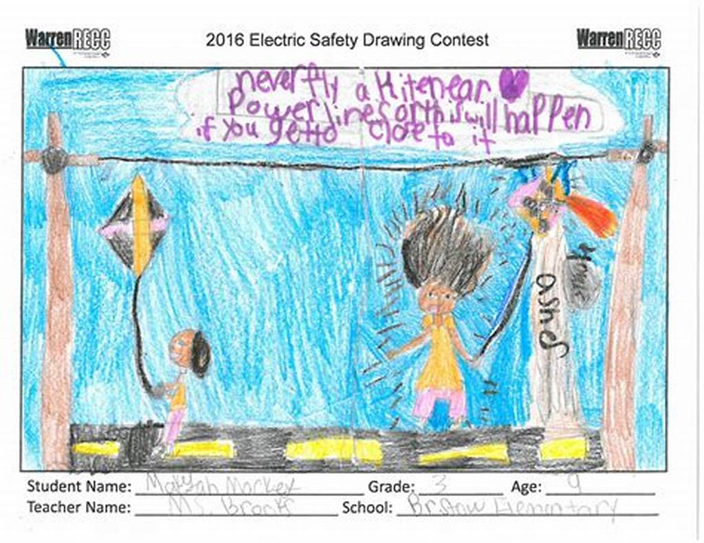 #Electric #Safety #Drawing #Contest