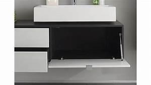Waschbeckenunterschrank Mit Aufsatzwaschbecken : unterschrank beach badm bel wei hochglanz grau mit becken ~ Indierocktalk.com Haus und Dekorationen