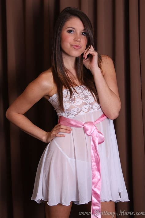 brittany marie sheer frilly dress next door tease