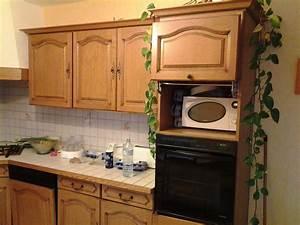 comment repeindre des meubles de cuisine couleur chene With comment repeindre des meubles