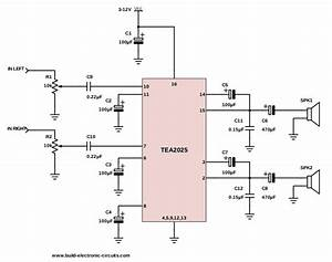 Watt Amplifier Circuit Diagram