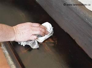 comment renover le revetement d39un escalier en bois With tapis de marche avec vernis pour canapé cuir
