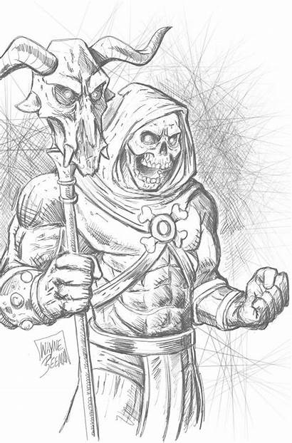 Fantasy Skeletor Drawings Coloring Pages Concept Joker