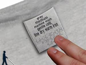 clothes tag get braille yanko design With cloth clothing tags