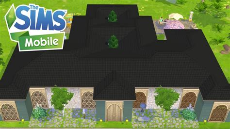 sims mobile sprawling shape  licious mansion