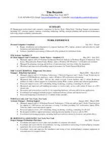 Help Desk Resume Summary by Technical Marketing Writer Nyc Resume