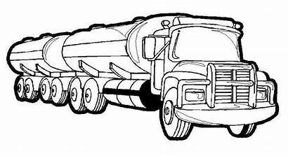 Coloring Semi Truck Pages Printable Trucks Sheets