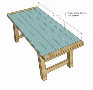 Ana White Build A Benchright Farmhouse Table Free And
