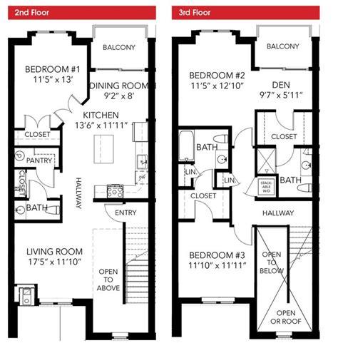 100 3 bedroom townhouse floor plans 3 bedroom oakbourne floor plan 3 bedroom 2 story leed certified townhouse floor plans pinterest