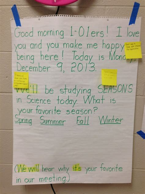 morning meeting ideas for preschool 1000 images about morning meeting messages on 418