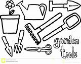 Coloring Tools Garden Pages Clipart Gardening Drawing Wrench Landscape Colouring Background Vector Google Shed Clip Medical Arts Tool Activity Cliparts sketch template