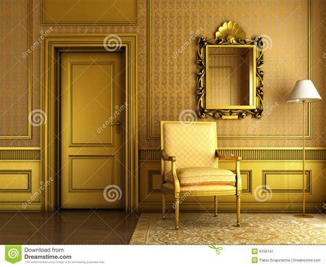 classic golden interior stock illustration image