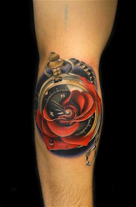 compass rose tattoo  andres acosta  tattoo