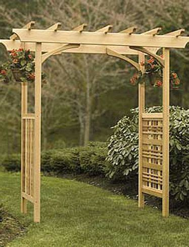 wood arbor plans woodworking projects plans