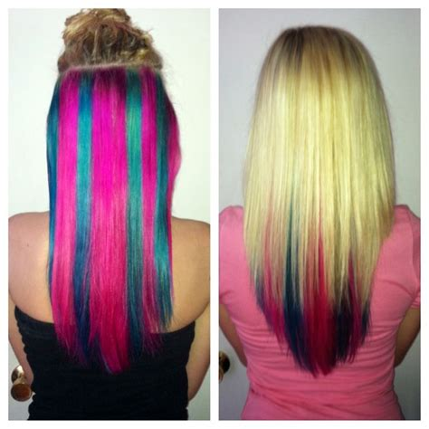 Hair With Color Underneath by Hair With Blue Pink Underneath Get This Look