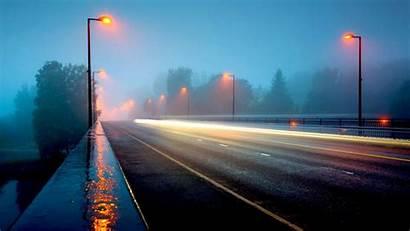Rainy Night Background Desktop Street Rain Highway