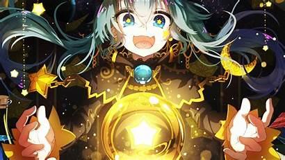 Anime Magic Witch Hair Background Qys3 Miku