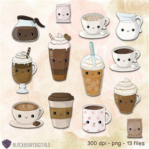 566 x 800 jpeg 49 кб. Kawaii Coffee Clipart Set coffee clip art cafe clip art