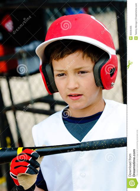 Little League Player Up Close Royalty Free Stock Photo