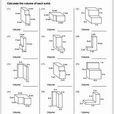 Volume Of Composite Figures Worksheet 5th Grade The Best Worksheets Image Collection Download