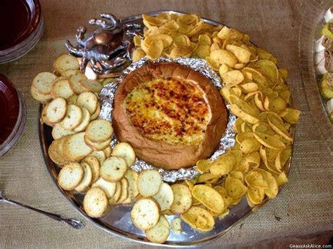 corn dip  bread bowl geaux  alice