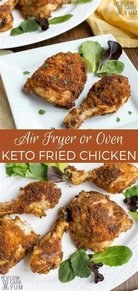 keto chicken fried low carb fryer air oven lowcarbyum recipes easy foods food airfryer
