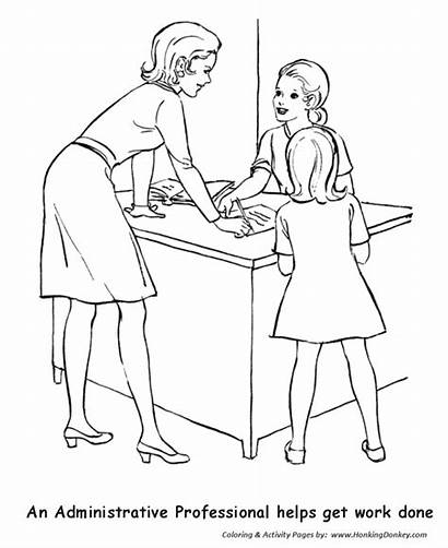 Coloring Pages Labor Secretary Professional Administrative Sheets