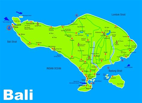 bali sightseeing map
