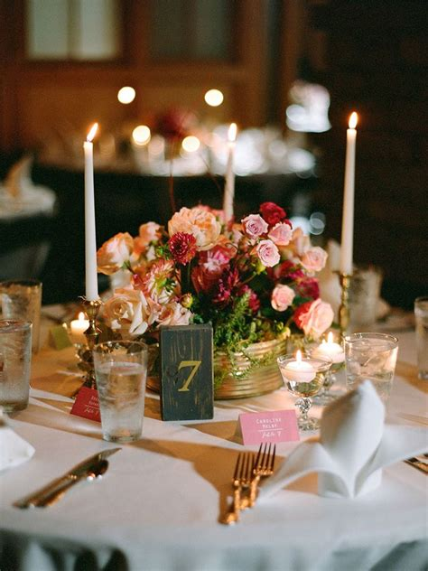 romantic wedding centerpieces  candles