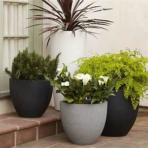 Round Planter - Contemporary - Outdoor Pots And Planters