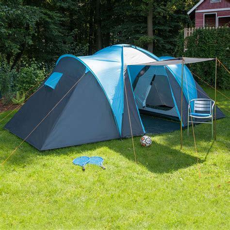 toile de tente 4 chambres skandika hammerfest 4 person family tent camping blue