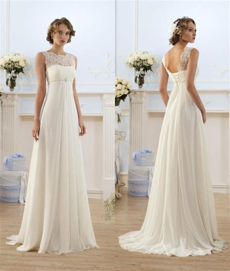 empire wedding dresses lace chiffon empire wedding dresses 2017 sheer neck capped 3901