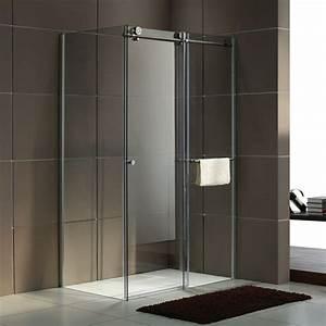 douche cabine de douche d39angle With porte de douche coulissante avec carrelage moderne salle de bain