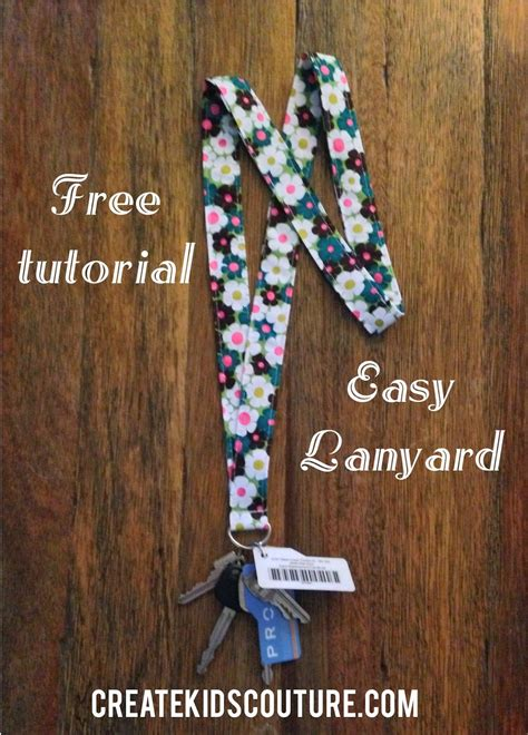 fabric lanyard tutorial quick  easy  patterns