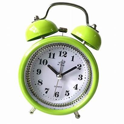 Clock Alarm Metal Bell Night Double Led